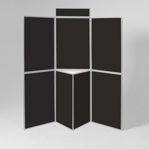 Freistehende Pinnwand  Light ClearAmbient Gestellfarbe: Grau| Farbe: Schwarz | Büro > Tafeln und Boards > Hängetafeln | ClearAmbient