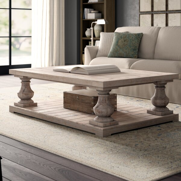 Doris Floor Shelf Coffee Table With Storage By Greyleigh