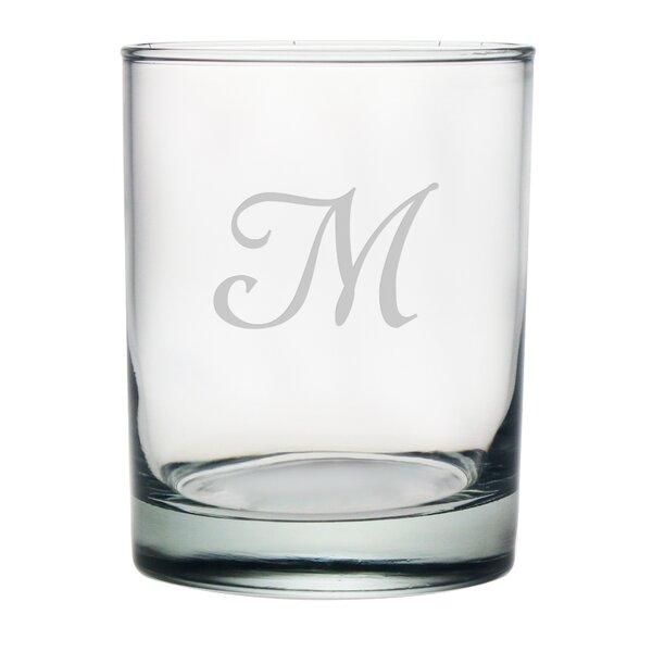 Script Monogrammed Rocks Glass (Set of 4) by Susquehanna Glass