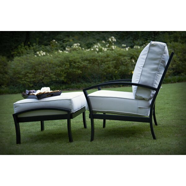 Maddux Swivel Patio Chair with Cushions by Meadowcraft