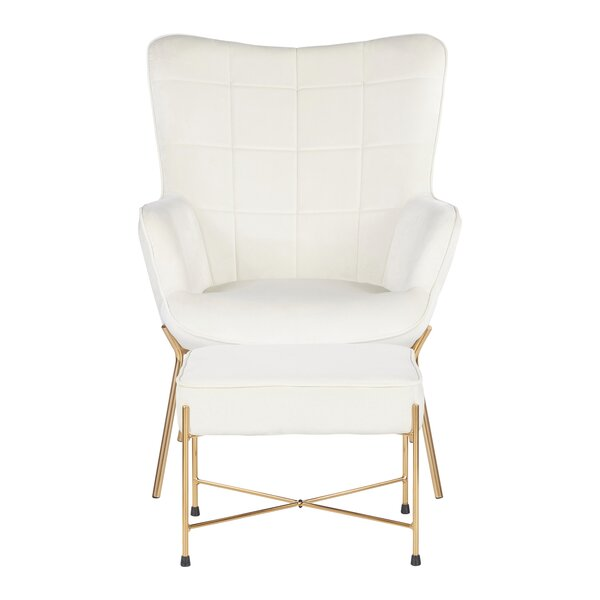 Martini Lounge Chair and Ottoman by Wrought Studio