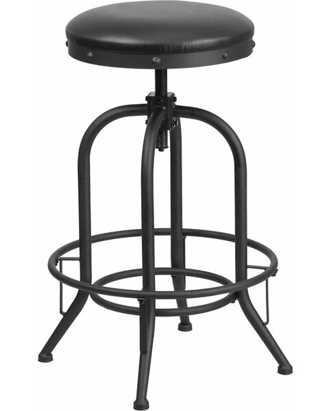 Hatchell Adjustable Height Swivel Bar Stool by Williston Forge Williston Forge