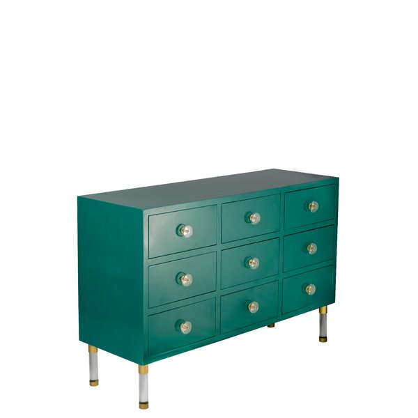 Kisner 9 Drawer Accent Chest by Everly Quinn