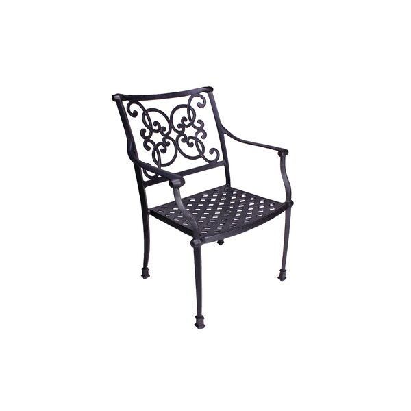 Palmhurst Stacking Patio Dining Chair with Cushion (Set of 2) by Fleur De Lis Living