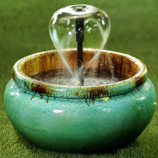 Resin Lyconia Distressed-style Polyresin Water Fountain by Jeco Inc.