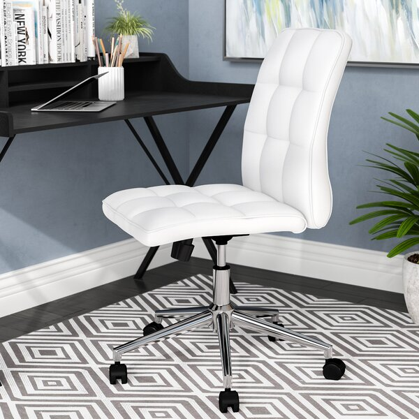 Wall Street Adjustable Mid-Back Office Chair by Wrought StudioWall Street Adjustable Mid-Back Office Chair by Wrought Studio