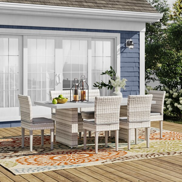 Waterbury 7 Piece Outdoor Patio Dining Set with Cushions by Sol 72 Outdoor