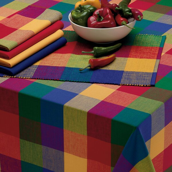 Palette Check Table Cloth by Design Imports