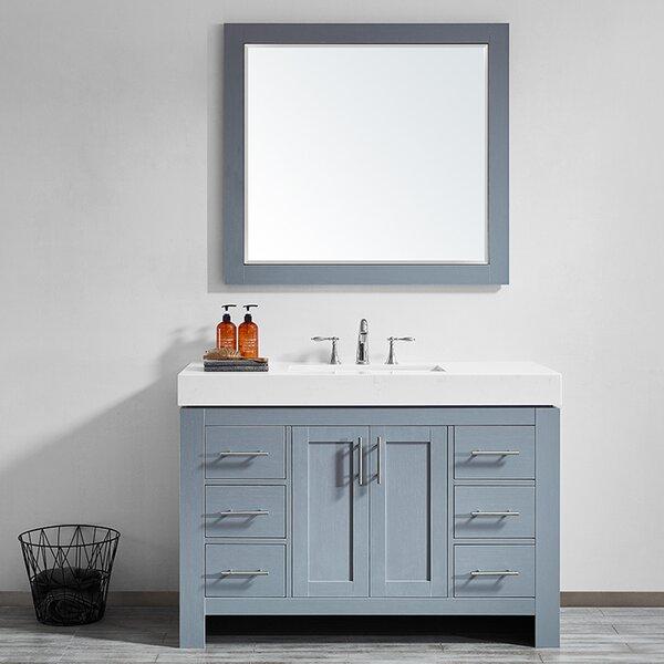 Neva 48 Single Bathroom Vanity Set with Mirror by Wrought Studio