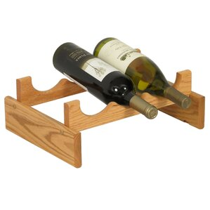 Dakota 3 Bottle Tabletop Wine Rack by Wooden Mallet
