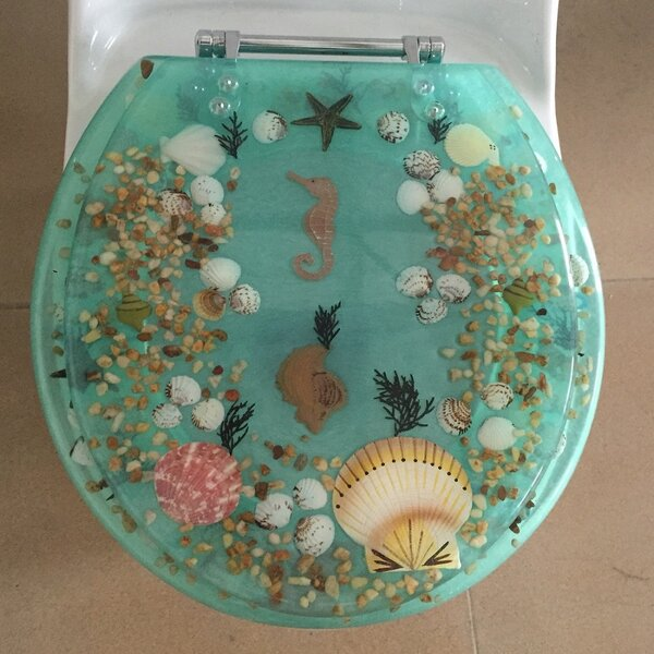Sea Treasure Decorative Round Toilet Seat by Daniels Bath