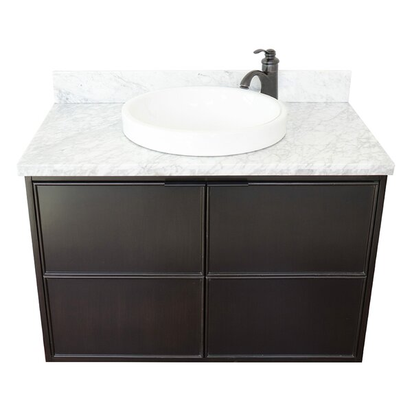 Elyria 37 Wall-Mounted Single Bathroom Vanity Set by Gracie Oaks