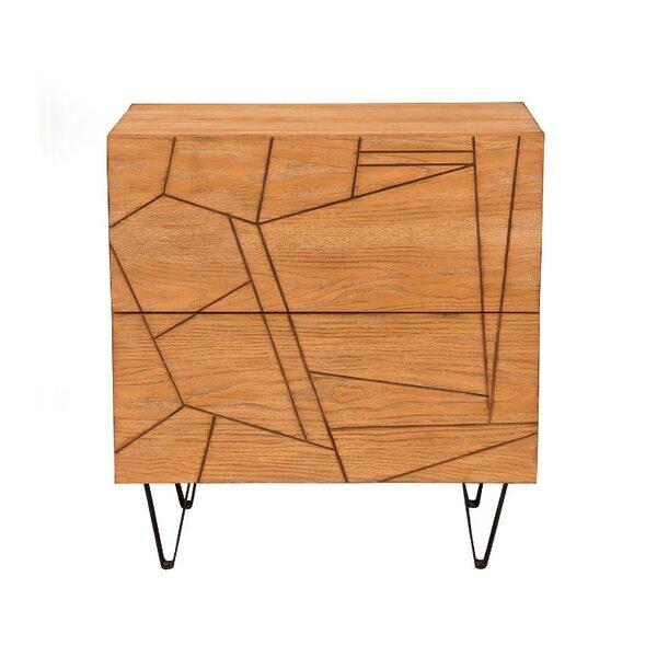 Bleecker Mahogany Wood 2 Drawer Nightstand by Brayden Studio