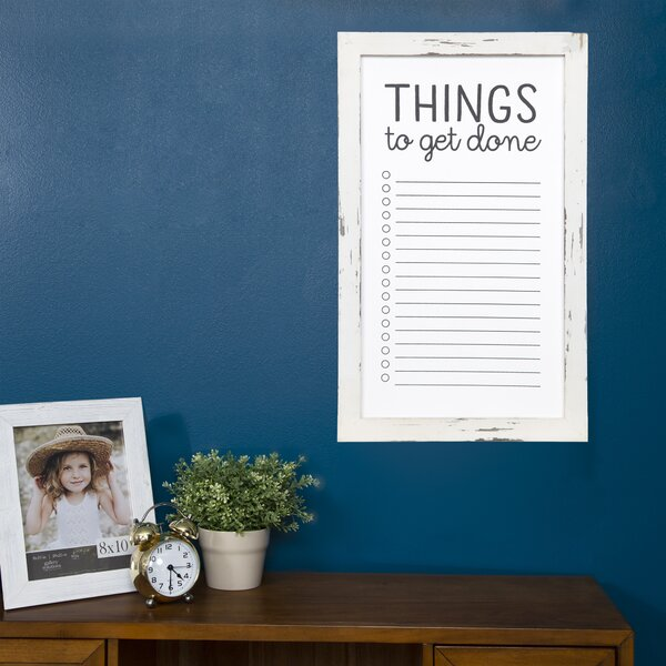To Do List Wall Mounted Whiteboard, 21.5 x 13 by N