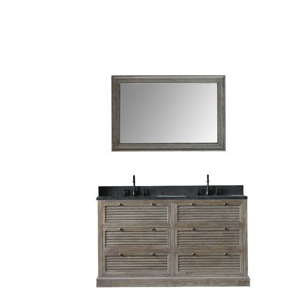 Barbera 61 Double Bathroom Vanity Set with Mirror by Millwood Pines