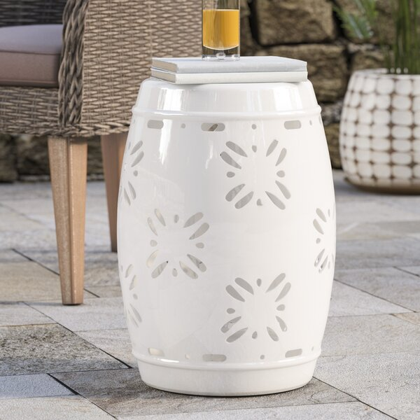 Dotterel Sakura Garden Stool by Beachcrest Home