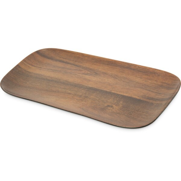 Epicure Melamine Acacia Grain Rectangular Tray (Set of 12) by Carlisle Food Service Products