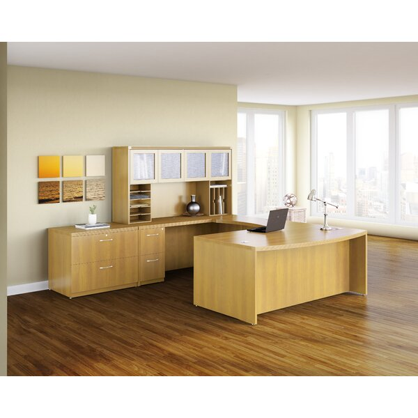 Aberdeen Executive Desk with Hutch by Mayline Group
