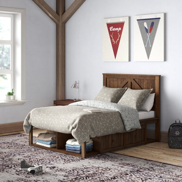 Senita Storage Platform Bed with Drawer by Grovelane Grovelane