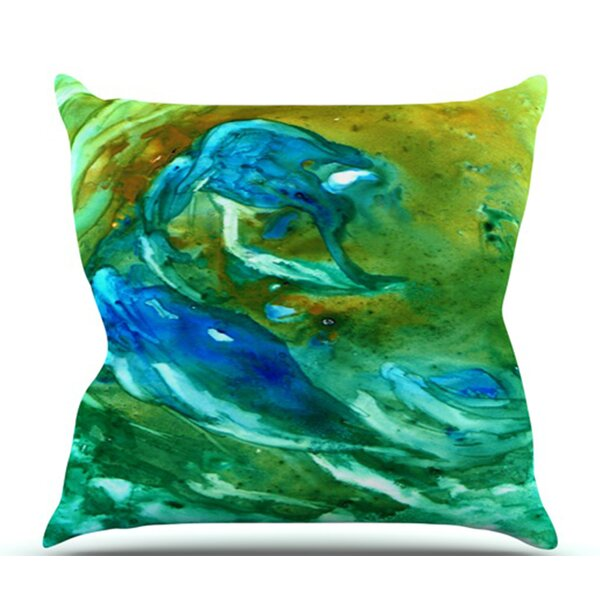 Hurricane by Rosie Brown Outdoor Throw Pillow by East Urban Home