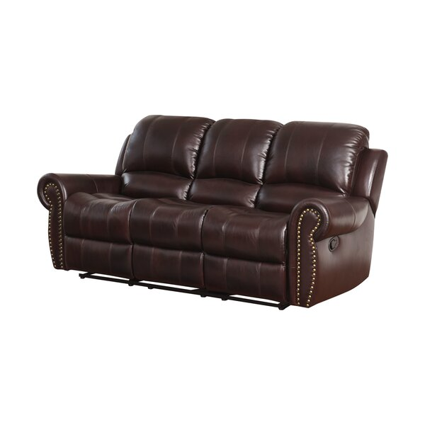 Barnsdale Leather Reclining Sofa by Darby Home Co