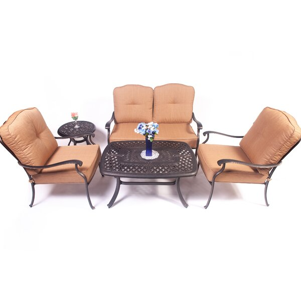 Goggin 5 Piece Sofa Seating Group by Fleur De Lis Living