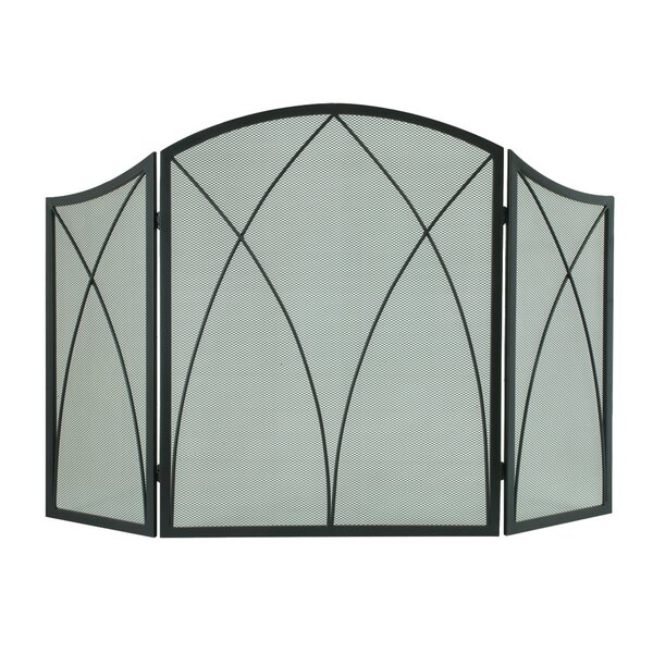 3 Panel Steel Fireplace Screen By Pleasant Hearth.