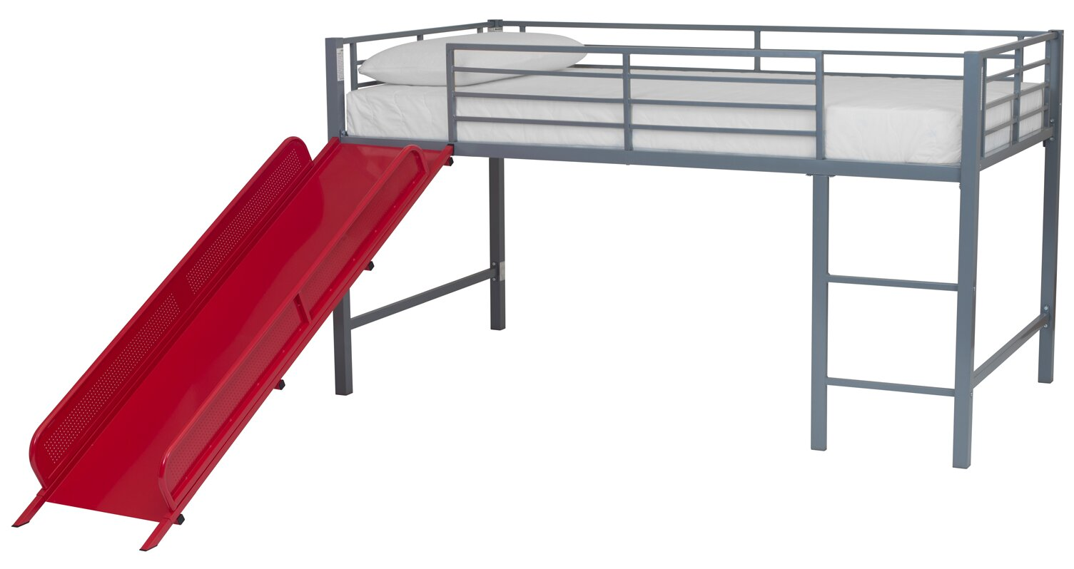 catalina junior twin loft bed with slide
