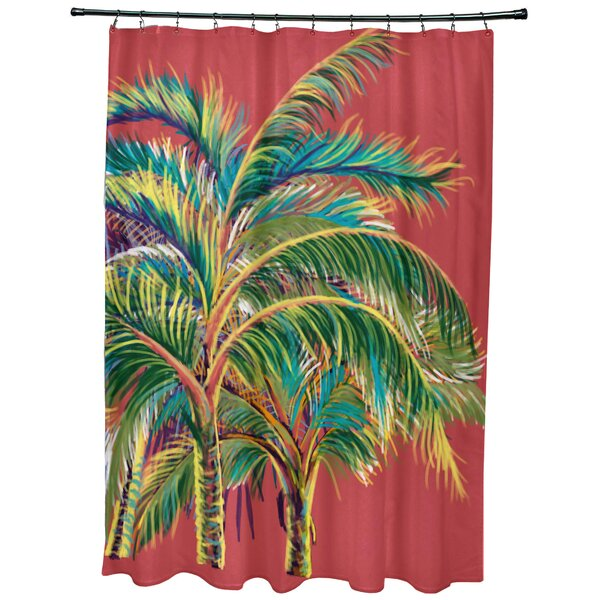 Geranium Vacation Floral Shower Curtain by Bay Isle Home