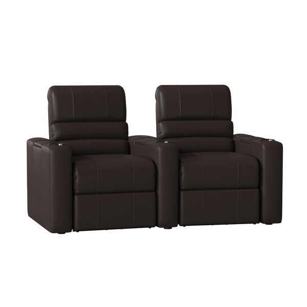 Blue LED Home Theater Curved Row Seating (Row Of 2) By Latitude Run