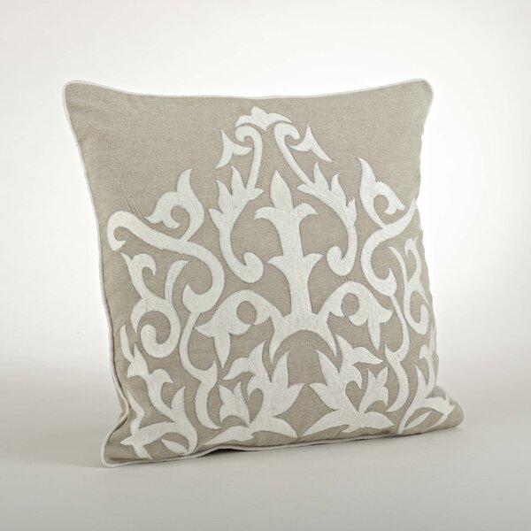 The Posh Embroidered Cotton Throw Pillow by Saro