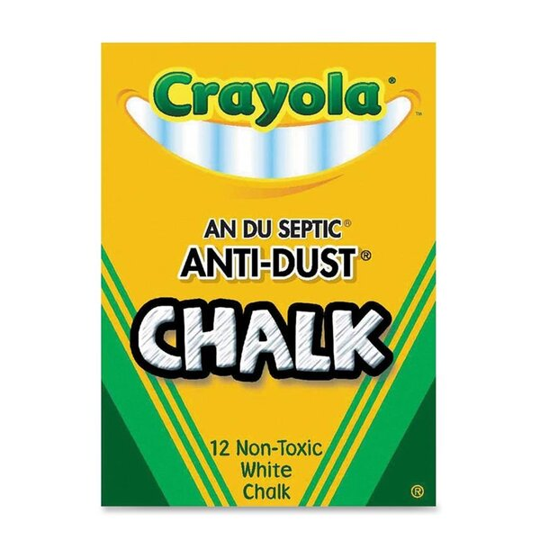 Anti-Dust Chalk Box (Set of 12) by Crayola LLC