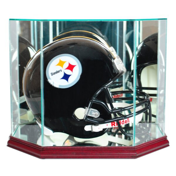 Octagon Full Size Football Helmet Display Case by Perfect Cases