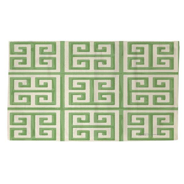 Greek Key II Mint Geometric Area Rug by Manual Woodworkers & Weavers