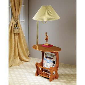Grenoble Swing Brass Lamp End Table by August Grove
