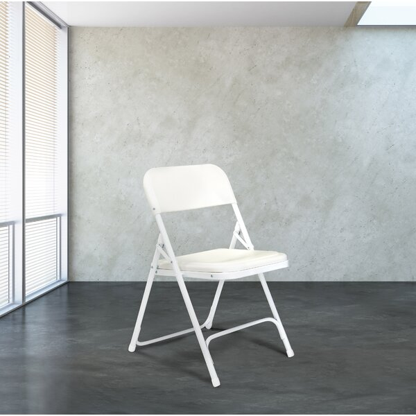 800 Series Plastic Padded Folding Chair (Set of 4) by National Public Seating