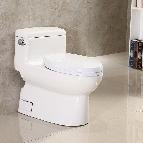 Dual Flush Elongated One-Piece Toilet by WoodBridge