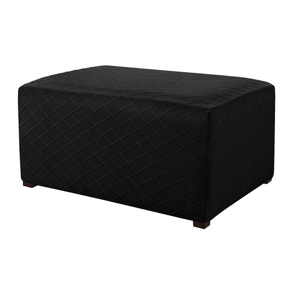 Ultra Soft Box Cushion Ottoman Slipcover By Red Barrel Studio