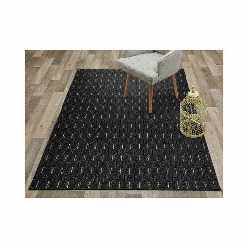 Hallee Tufted Anthracite Rug Latitude Run Rug Size: Runner 100 x 450cm