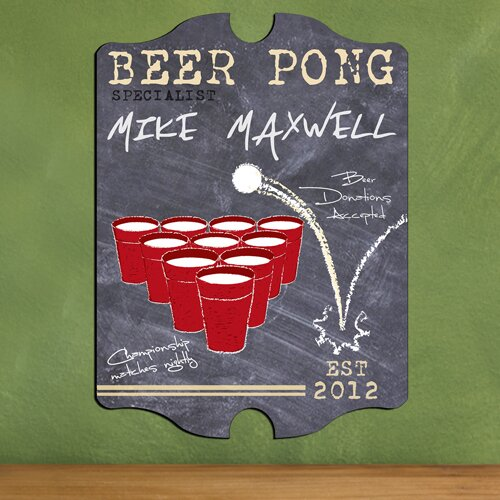 Personalized Gift Beer Pong Graphic Art by JDS Personalized Gifts