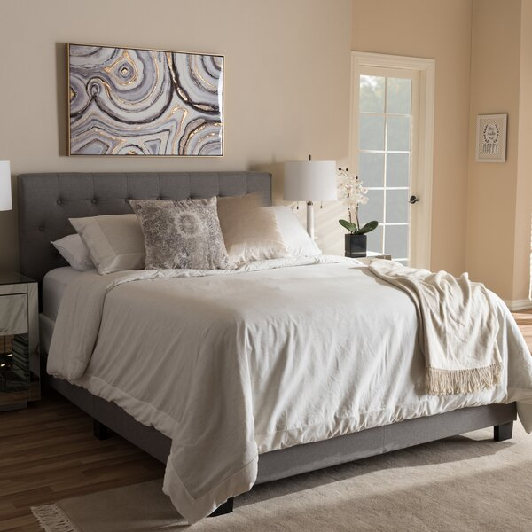 Feather Upholstered Panel Bed by Wrought Studio