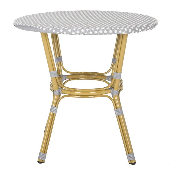Rahul Rattan Bistro Table by Bungalow Rose