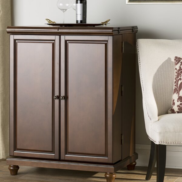 Goreville Bar Cabinet with Wine Storage by Three Posts