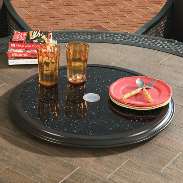 Victoria Glass Top Lazy Susan by Red Barrel Studio