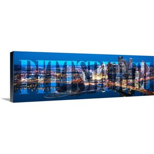 'Pittsburgh Skyline, Transparent Overlay' Graphic Art Print on Wrapped Canvas by Great Big Canvas