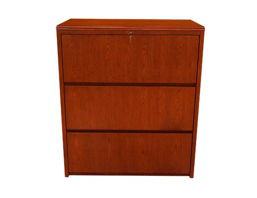 Waterfall Series 3-Drawer Lateral File by Carmel Furniture
