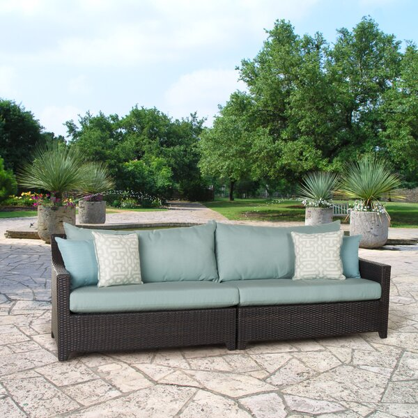 Northridge Patio Sofa with Sunbrella Cushions by Three Posts