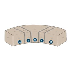 modular sectional wedge cover