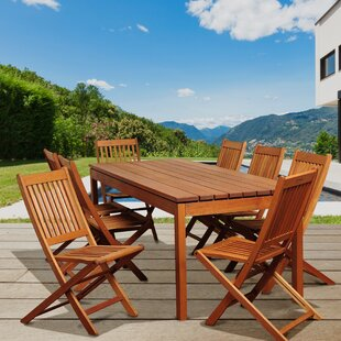 Hetton 9 Piece Dining Set By Rosecliff Heights