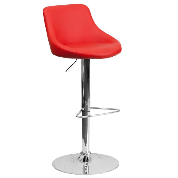 Winnols Adjustable Height Swivel Bar Stool by Latitude Run